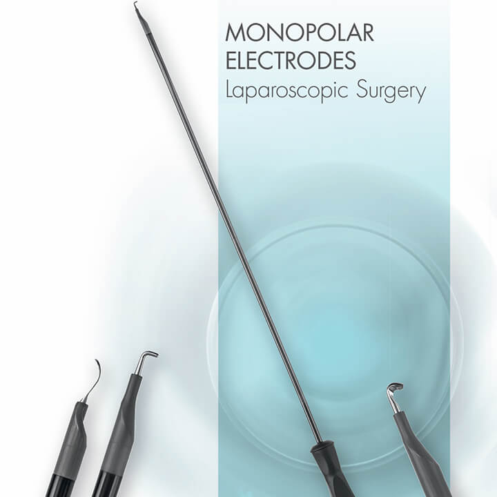 Monopolar electrodes - laparoscopic surgery - Alphameditec